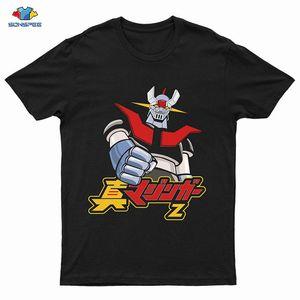 Мужские футболки Cool Mazinger Z-робот футболка для мужчин с коротким рукавом аниме о-образных вырезов хлопок тройник высокая улица вазема мода одежда