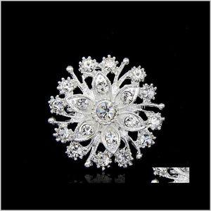 PINS, DROP LIVRAISON 2021 LUXURY SIER TONE FLEUR BROCHE DE BROCHE DE MARIAGE DE MARIAGE DE MARIAGE DE MARIAGE BROCHES BROCHES PINS COSTUME Accessoires Strass CZ Diamond
