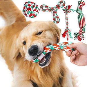 5 Pack Bissbeständiger Haustier Hund Kauen Spielzeug für kleine Hunde Reinigung Zähne Puppy Handgemachte Geflochtene Seil Knoten Ball Selbstspiele Spielzeug spielen Tiere Haustiere
