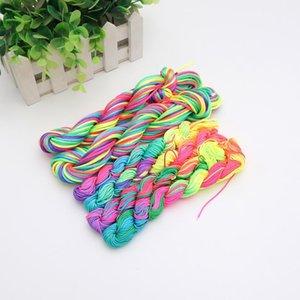 Macrame Nylon Cord Kumihimo Rainbow Diy Handmade Bracelet Rope Chinese Knot Jewelry Findings Beading Shamballa Stirng 1-2mm DC01