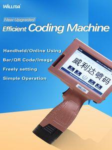 Printers 25.4mmQR Bar Batch Code Variable Date Serial Number Logo Expiry Label Portable Hand Jet Handheld Thermal Inkjet Printer#R10