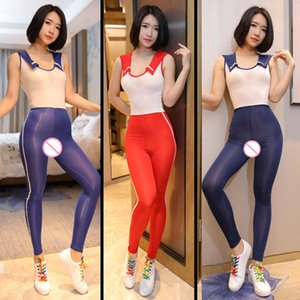 Sailor Collar Women Open Crotch Bodysuit Tight Student Role Playing Uniform Temptation Sleeveless Jumpsuit Anime Cosplay Party Costume