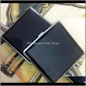 Cases Accessories Household Sundries Home Garden Drop Delivery 2021 Fashion 20Pcs Metal Case Clip Personality Matic Cigarette Holder Box Blac