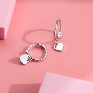 Dangle & Chandelier Xiaohuanxi IU same nail tide S925 Silver Love simple Mini Heart Earrings small