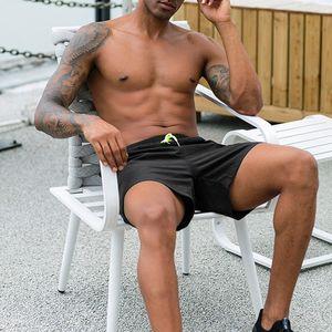 Adamın Şort Orta Bel Katı Renkli Beachwear Quickdry Casual Stil X0316