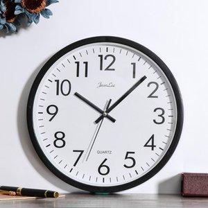 Reloj de pared minimalista de 10 pulgadas creativo silencioso para decoración (marco negro) relojes