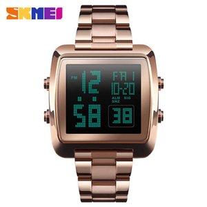 Double display men's electronic watch countdown multifunctional sports business men