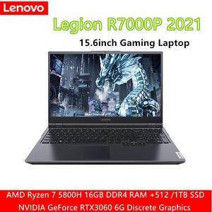 Laptops Lenovo Legion R7000P 2021 15.6inch Gaming Laptop AMD Ryzen7-5800H GeForce RTX 3060 6GB Backlit Metal Body 16GB 512GB 1TB SSD