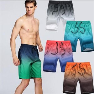 Wholesale Gradient Color Quick-Drying Beach Shorts Men's Surf Short Pants Swim Beachwear Children's Swimwear