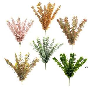Artificial Flower Eucalyptus Leaves Tropical Plant for Office Home Wedding Plants Garden HWF10157