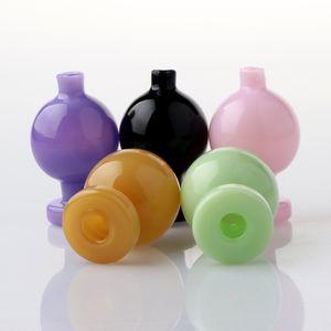 2021 Smoking Accessories Color Glass Bubble Carb Cap With 25mm OD Suit For Beveled Edge Flat Top Quartz Banger Nails