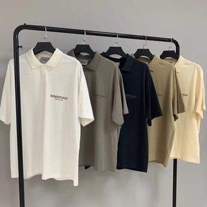 Camisetas para hombres Sientir de Dios Fog Essentials Doble Line Polo Camisa de manga corta y WO High Street T-shirt Fashion Fashion Vhyl