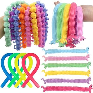 Squishy Sensory Ropes Fidget Bracelet Cellphone Straps Silicon Elastic Wrist Band Decompression Stretchy Strings Stress Autism Anxiety Relief Bracelets Toys