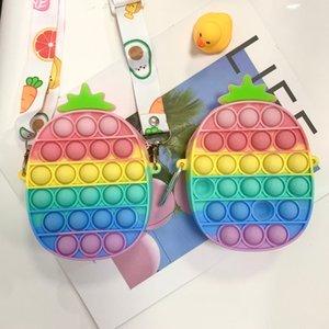 Fidget Bubble Coin Purse Chain Decompression Storage Toys Shoulder Bag Pencil Case Wallet Bags GWE9869