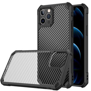 Cell Phone Cases Suitable For Samsung S10 S20 S21 series Extraordinary carbon fiber high permeability scratch-resistant 360 all-inclusive edge protective case