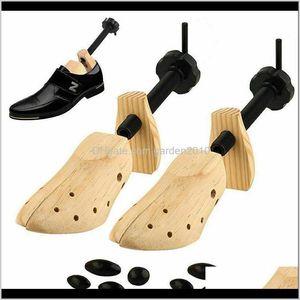Storage Holders Racks Rantion Shoe Stretcher Men Women Wooden Shoes 1 Piece Tree Shaper Rack Wood Adjustable Flats Pumps Boots Expande Ob9Io