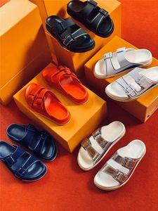 LVXNBA Rainer Mules Мульс дизайнерские сандалии кожаные двойные ремешка тапочки регулируемые пряжки мода летняя открытая повседневная обувь мужчины сандалии