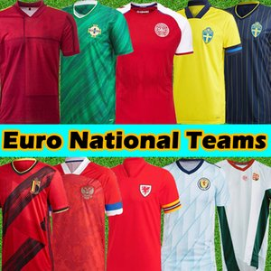 2021 EURO Soccer Jerseys Denmark Sweden Belgium Wales Hungary Russia Northern Ireland Scotland jersey 2022 Football Shirts camisetas de futbol Men