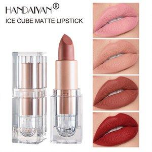HANDAIYAN Ice Cube Lip Gloss Matte Sweat-Proof Lipstick Long Lasting Makeup 12 Colors for Choose DHL free