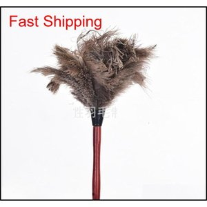 Cleaning Tools Housekeeping Organization Home & Garden Drop Delivery 2021 40 Cm Remove Dust Feather Duster Household Round Head Ostrich Hair