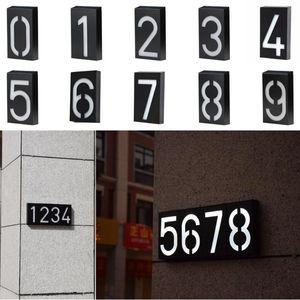 House Number Solar Power Digital Al Door Wall Light Address Sign Lamp Custom Street Plaque Outdoor Lamps