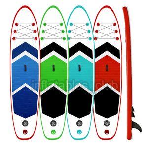 SUP Надувная доска надувной доски на продажу дешевые цена для серфинга для озера / моря 305 * 76 * 15 см. Плавающий коврик для серфинга запуск рыбацкой лодки
