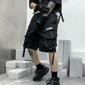 Хип-хоп Cargo Shorts Men Harajuku Techwear Goth The Ghee Man Feail Повседневная Уличная Одежда Бермудская Мулькалина Мужчины