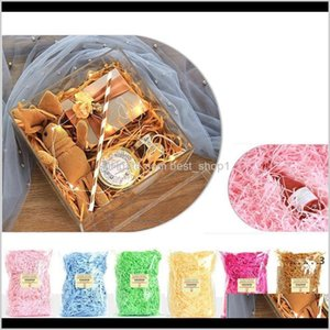 Wrap Event Festive Party Supplies Home Garden Drop Delivery 2021 Color Candy Red Wine Box Filler Shredded Paper Silk Holiday Wedding Gift Pac