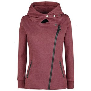 hoodies Autumn And Winter Loose Zipper Clear Color Hooded Fleece Women's Sweatshirt Hoodies Set Tracksuit Sport Women Long Sleeve