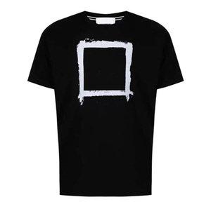2021 Mens et femmes Tshirt Designer T-shirts de luxe Tees de luxe Boussole Logo Impression de haute qualité Double fil Double Sold Coton Couple Style High Street Deux couleurs Tops d'été