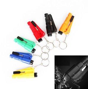 Life Sauvetage Hammer Keychain Outil de sauvetage d'urgence Accessoires de voitures Ceinture de sécurité Breakful Outils Sécurité Verre Disjoncteur Mini Keychains