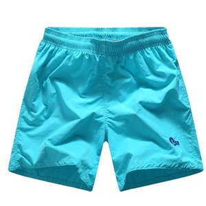 Summer Men's Pure Color Beach Short Elastic Waist Bermuda Surfing Sports Shorts Swimsuit Quick Dry Children's Swimwear