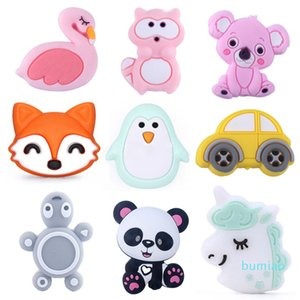 49 Styles 3cm horse Silicone Beads for DIY Baby Teethers Necklace Accessories grade BPA Free Animal Toddler teether M1960