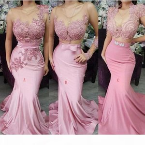 Custom Made African Mermaid Prom Dresses Three Types Sweep Train Long Country Garden Evening Gowns Bridesmaid Dress