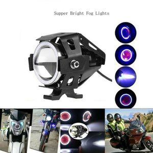 125 W Motosiklet Farlar Anahtarı Motosiklet Yardımcı Spot U7 LED Motor Sürüş Strobe Yanıp Sönen DRL Işıkları ATV UTV TRU Araba DVR Için