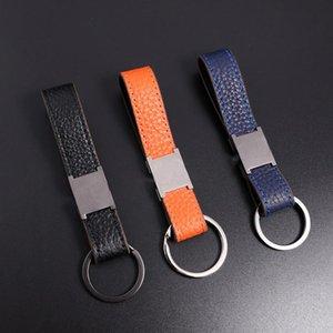 2021 Key chain Buckle Car Keychain Handmade Leather Designers Keychains Men Women Bag Pendant Accessories 6 Color