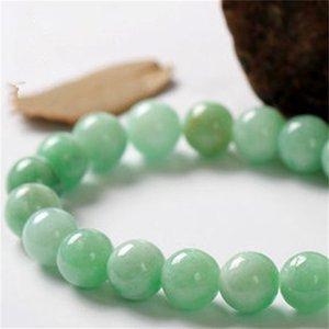 Braccialetto di Aventurina verde 10mm, braccialetto della pietra preziosa, perle rotonde dell'avventurina, braccialetto elastico, braccialetto di buona fortuna 850 Q2