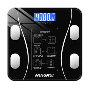 Black white Pink Household Scales Bluetooth Body Fat Smart LED Digital Scale Electronic Weight Balance Composition Analyzer
