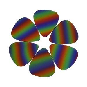 Lots of 100 pcs Medium 0.71mm Guitar Picks Plectrums Celluloid Rainbow Color