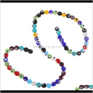 8Mm Colored Jewelry Making Charms Round String Lampwork Smooth Assortments Diy Crafts I9Y3Z Rbv5H