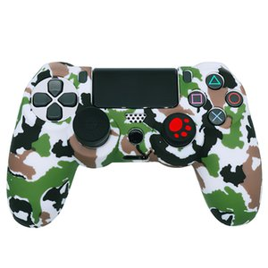 Camouflage Silicon Case Cover PS 4 Sockproof Protective Rubber Skin Colorful Protector for Sony PS4 Wireless Controllers Game Accessories