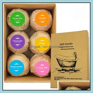 Body Health & Beauty6Pcs  1Set Organic Bombs Bubble Ball Essential Oil Handmade Spa Relief Exfoliating Mint Lavender Rose Flavor Drop Delive