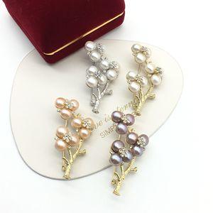 Estilo nacional invierno Aomei Tianran Pearl de agua dulce perlas múltiples corsage broche suéter abrigo Pin