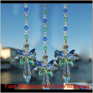 Arts And Crafts Gifts Home Garden 10Pcs Crystal Suncatcher Pendant Angel Handmade Wedding Car Hanging Decor Ornament Whz13 Drop Delive