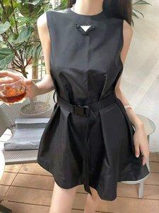 Роскошные дизайнерские женские платья без рукавов джинсовая рубашка для весеннего летнего туалета повседневный стиль с письменной буквой леди тонкие платья