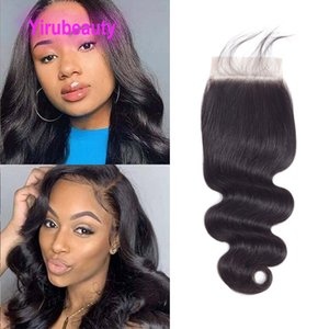 Malaysian 100% Human Virgin Hair Body Wave Wholesale 5X5 Lace Closure Baby Hairs 12-24inch Top Closures Middle Three Free Part Straight 5 Pieces lot