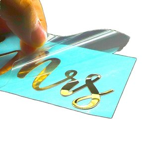 Custom nickel sticker printing 3d metal logo label stickers with strong glue for decoration