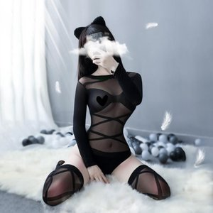 Sexy Women Sleepwear Open Crotch Fetish Bodystocking Erotic Lingerie Porno Babydoll Crotchless Body Suit Underwear Costumes Latex Catsuit