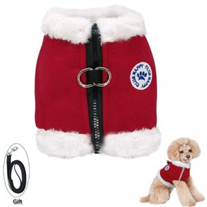 Dog Collars & Leashes Reflective Harness Winter Warm Clothes Adjustable Pet Puppy Cat Vest Coat For Small Medium Dogs Supplies