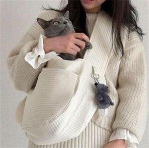 Dog Handwork Pets Knapsack Cat Shoulder Canvas Package White Bag Bear Pendant Lovely Travel 19km L2 PS3V
